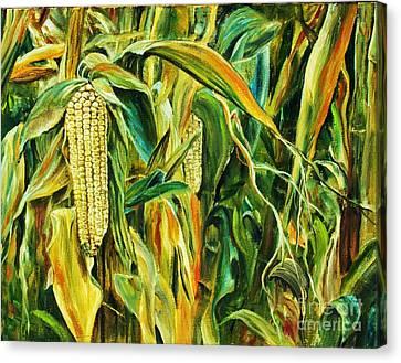 Spirit Of The Corn Canvas Print by Anna-maria Dickinson