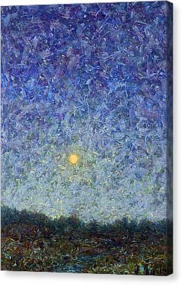 Cornbread Moon Canvas Print by James W Johnson