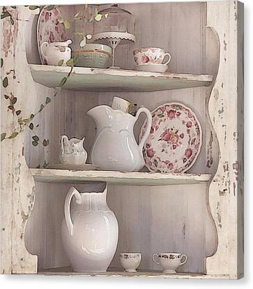 Old Pitcher Canvas Print - Corner Cupboard by Art Block Collections