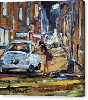 Corner Deal By Prankearts Canvas Print