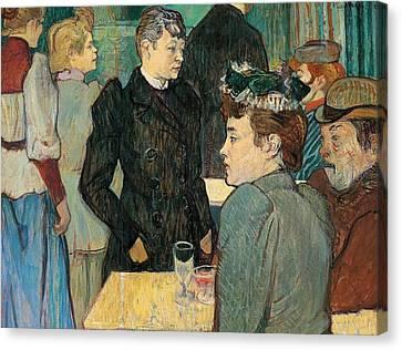 Corner Of Moulin De La Galette Canvas Print by Henri de Toulouse Lautrec