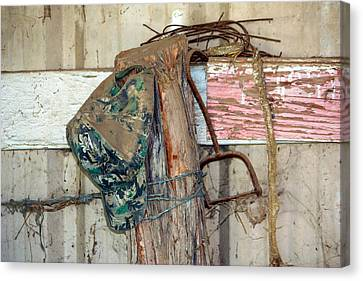 Corner Of The Barn Canvas Print by Jeff Tuten