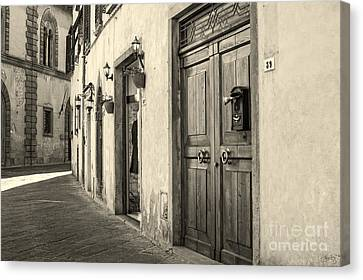 Corner Of Volterra Canvas Print