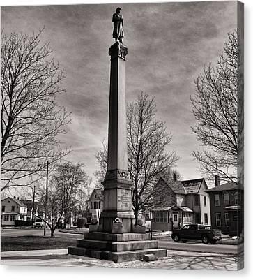Corning Civil War Monument Canvas Print by Joshua House