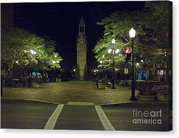 Corning Clock Tower Canvas Print by Tom Doud