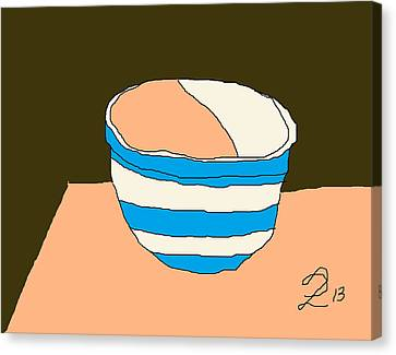 Cornish Bowl Canvas Print by Anita Dale Livaditis