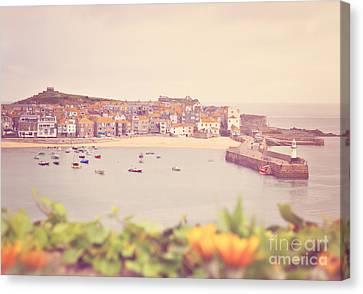 Cornish Harbour Canvas Print