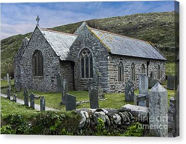 Cornish Seascape St Winwaloe Church Canvas Print by Brian Roscorla