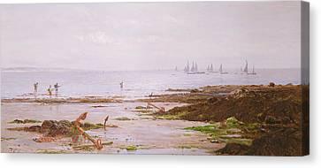 Cornish Shrimpers Canvas Print