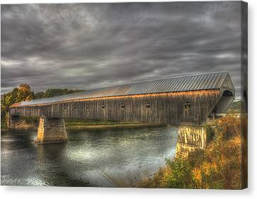 Cornish Windsor Covered Bridge Canvas Print