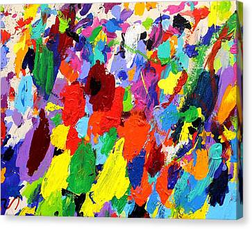 Abstract Movement Canvas Print - Cornucopia Of Colour I by John  Nolan