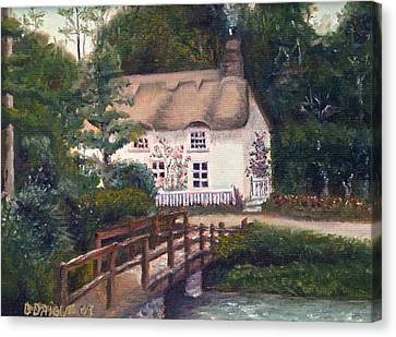 Cornwall Cottage Canvas Print by Diane Daigle