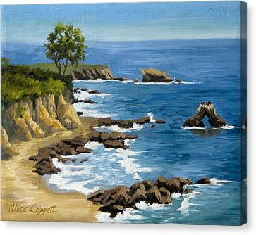 Corona Canvas Print - Corona Del Mar California by Alice Leggett