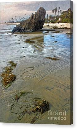 Corona Del Mar Coast Canvas Print by Gregory Dyer