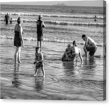 Coronado Beach Tourist Canvas Print