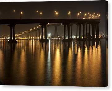 Coronado Bridge At Night Canvas Print