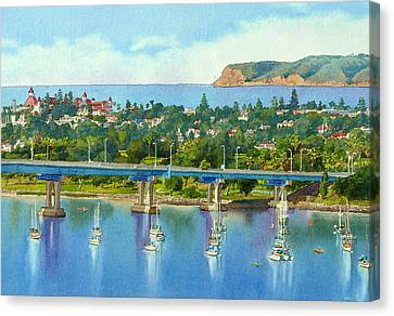 Coronado Island California Canvas Print by Mary Helmreich