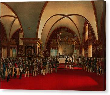 Canvas Print featuring the digital art Coronation Banquet by Vasily Timm