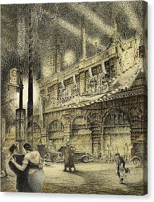 Coronation Evening London 1937 Canvas Print