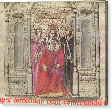 Coronation Of Henry I Canvas Print