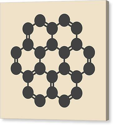 Coronene Hydrocarbon Molecule Canvas Print by Molekuul