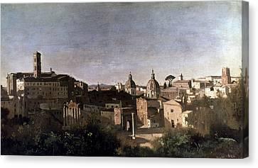 Corot Roman Forum Canvas Print
