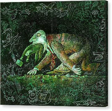Corporate Predator Canvas Print by Leon Zernitsky