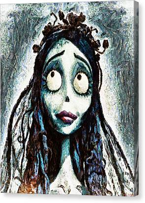 Corpse Bride Canvas Print by Joe Misrasi
