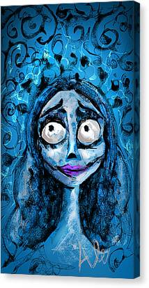 Corpse Bride Phone Sketch Canvas Print
