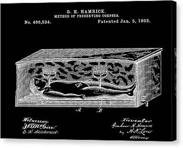 Corpse In Coffin Patent Canvas Print