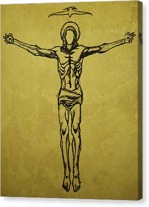 Corpus Christi And Dove Canvas Print by Daniel P Cronin