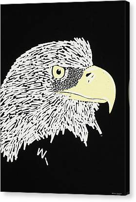 Correction Tape Eagle Canvas Print