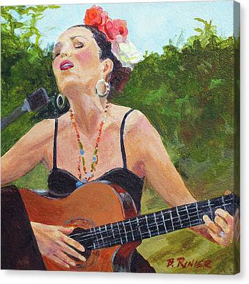 Canvas Print featuring the painting Corrido by Bonnie Rinier