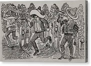 Corrido Mexican Folk Song. 1911 Canvas Print by Everett