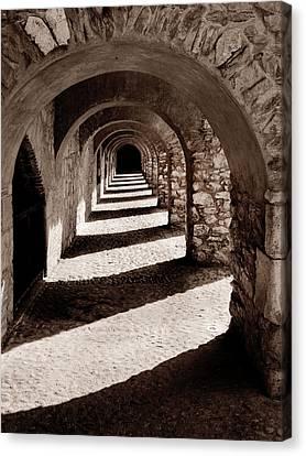 Corridors Of Stone Canvas Print
