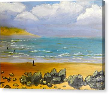 Corrimal Beach Canvas Print by Pamela  Meredith