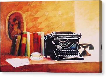 Corrispondance  Canvas Print by John  Svenson