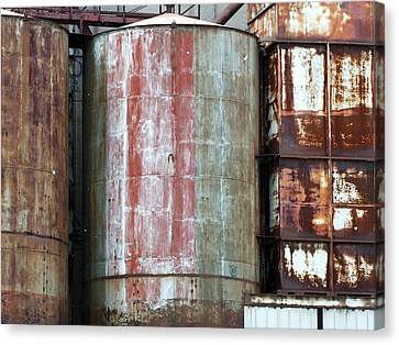 Corroding Silos Canvas Print by Robert Knight