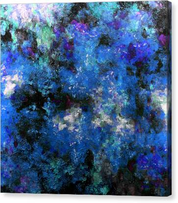 Corrosion Bleue Canvas Print by RochVanh