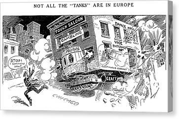 Corruption Cartoon, 1916 Canvas Print by Granger