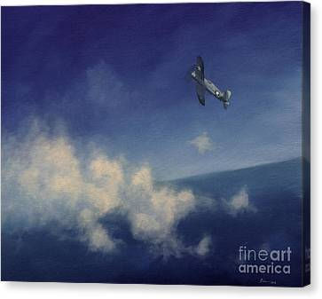 Canvas Print featuring the painting Corsair by Stephen Roberson