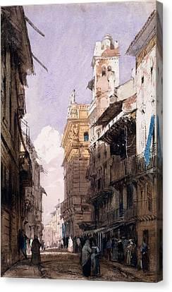 Corso Saint Anastasia, Verona Canvas Print by Richard Parkes Bonington