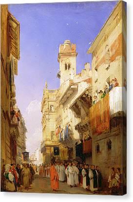 Corso Santanastasia, Verona Corso Santanastasia Canvas Print by Litz Collection