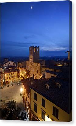 Cortona Tuscany Dusk Canvas Print