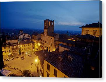 Cortona Tuscany Dusk Canvas Print by Al Hurley