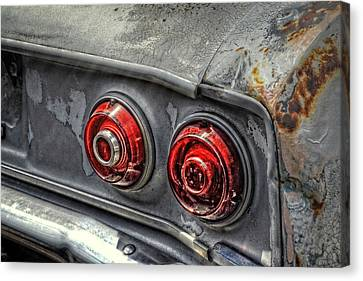 Corvair Tail Lights Canvas Print by Ken Smith
