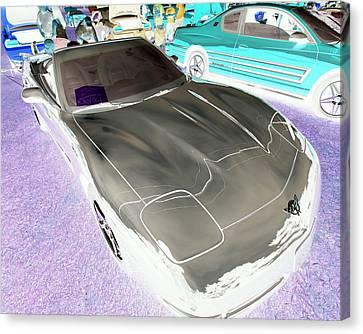 Canvas Print featuring the photograph Corvette 2003 50th Anniv. Edition by John Schneider