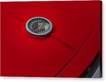 Corvette Chevy Antique Canvas Print by Susan Candelario