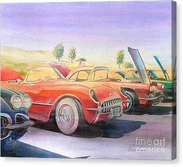 Corvette Show Canvas Print by Robert Hooper