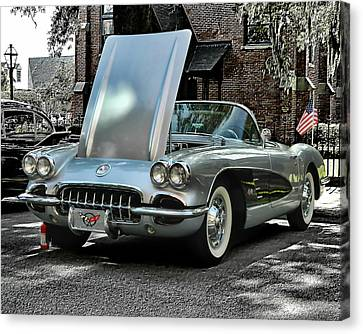 Canvas Print featuring the photograph Corvette by Victor Montgomery